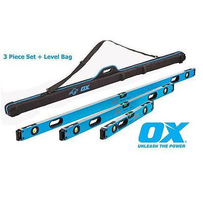 OX TOOLS PRO LEVEL SET 600MM, 1200MM, 1800MM LEVELS PLUS CARRY - Tools Plus Level