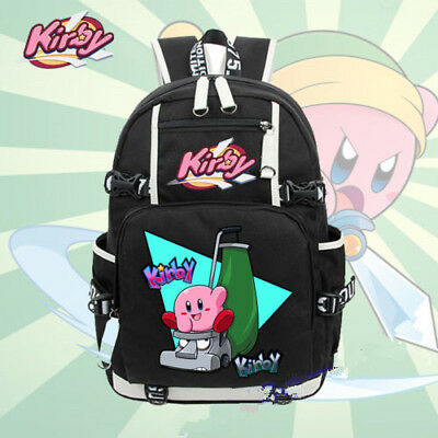 "18"" Nintendo Kirby Backpack School Bags Bookbag Anime Shoulder Laptop Bags New"
