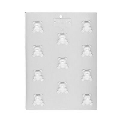 Teddy Bear Hard Candy Chocolate Pieces Plastic Sheet Mold LorAnn