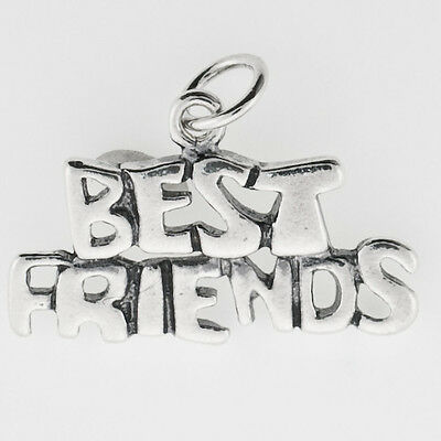 Sterling Silver Best Friends Charm, Charms for Bracelets or