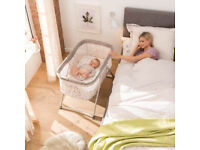 brand new in box hauck dreamer bedside rocking crib like moses basket in DOTS SAND UNISEX