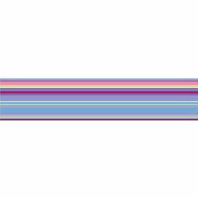 Brewster WPS90250 Wall Pops Ribbon Candy Purple Stripe, Single Strip Brewster Purple Wall Ribbon