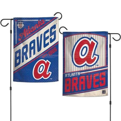 "New MLB  Atlanta Braves  2 Sided 12.5"" X 18"" Cooperstown Gar"