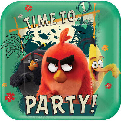 ANGRY BIRDS 2 SMALL PAPER PLATES (8) ~ Birthday Party Supplies Dessert Cake Game](Angry Birds Birthday Cake)