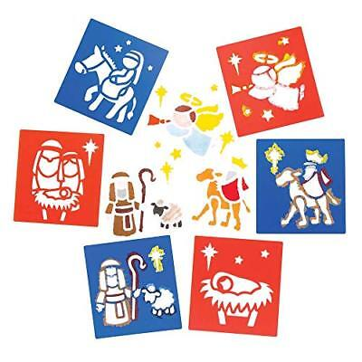 Baker Ross Nativity Stencils (Pack Of 6) For Kids Christmas Arts And Crafts - Art And Craft For Kids Halloween
