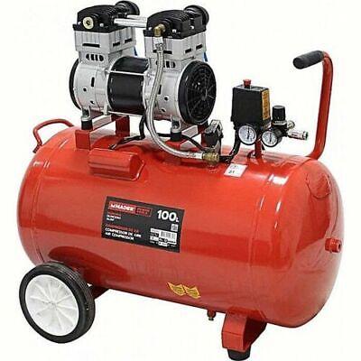 Compresor de aire silencioso 100L 2HP (sin mantenimiento)