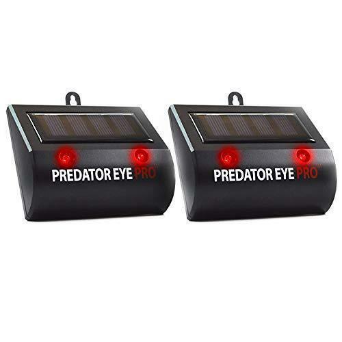 Aspectek Solar Powered Predator Eye Pro Night Wild Animal Repeller 2 Pack (Black