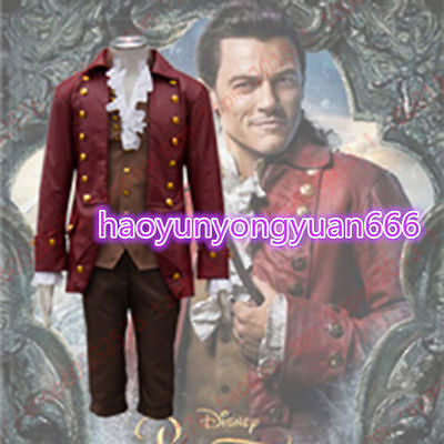 Movie Beauty and the Beast Gaston Cosplay Costume Halloween Men's Fancy Dress
