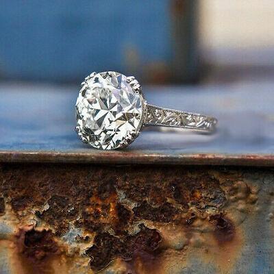 Gorgeous 2.80CT Round Moissanite Vintage Engagement Ring 925 Sterling silver Moissanite Vintage Ring
