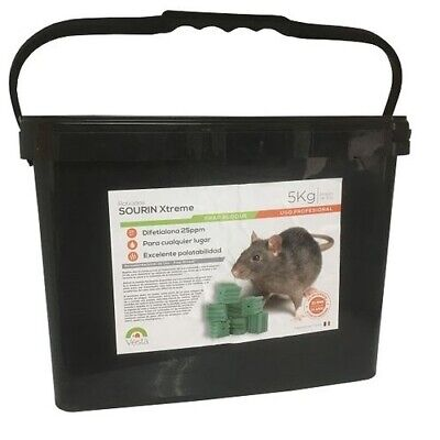 Frap Block Rat Poison Sourin Xtreme 5 KG Use Professional - Blocks 20 Gr
