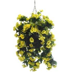 Artificial 10inch hanging baskets
