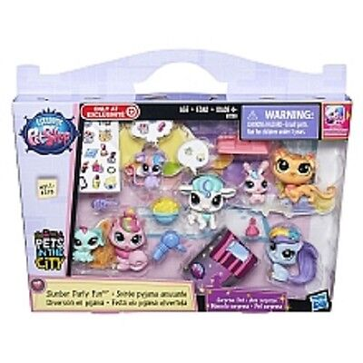 Littlest Pet Shop Pets in the City Slumber Party Fun with Pets #311-318 2015 NEW (City Party Shop)