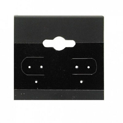 New 100 Black Plain Hanging 2 X 2 Earring Card With Lip Jewelry Card Display