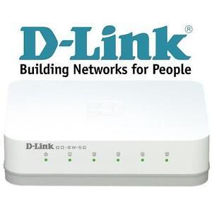 NEW D-LINK 5-PORT GIGABIT SWITCH DESKTOP SWITCH - ELECTRONICS - PC COMPUTER 101690033