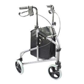 Lightweight Tri-Wheel Walker with Shopping Bag.