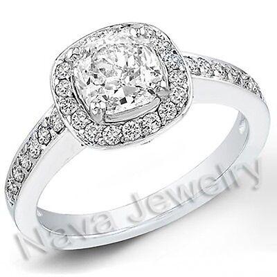 2.73 Ct. Cushion Cut Diamond Engagement Bridal Ring GIA
