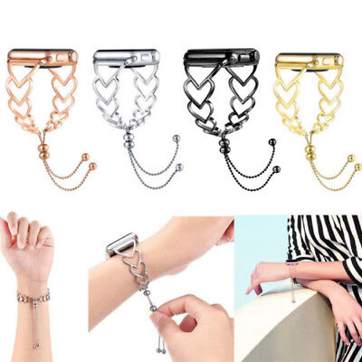 For Apple Watch 4 3 2 1  Stainless Steel Bracelet iWatch Band Women Strap -