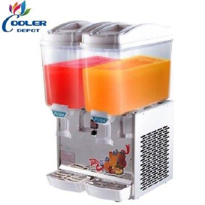 2 Compartment Beverage Juice Drink Dispenser Machine Agua Fresca Model Bd2