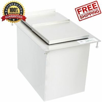 Drop-in Ice Cube Bin Stainless Steel Nsf Foam Insulated Silver Restaurant Bar