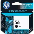 New HP 56 Black Ink Cartridges
