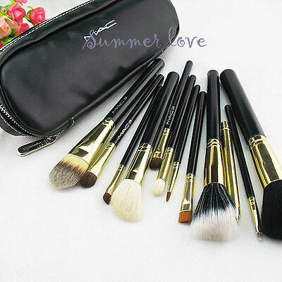 Portable MA 12 PCs Brush Set Cosmetic Brush Kit Makeup Tools + PU Leather Case  on Rummage
