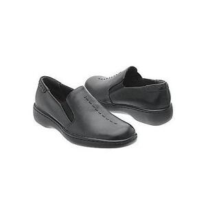 NEW NATURALIZER 'MUSIC' BLACK LEATHER SLIP-ON SHOES