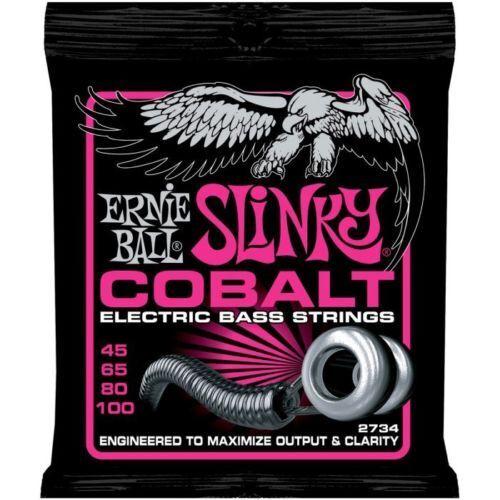 Ernie Ball Cobalt Bass 2734 Super Slinky 4 - String strings 45 - 100