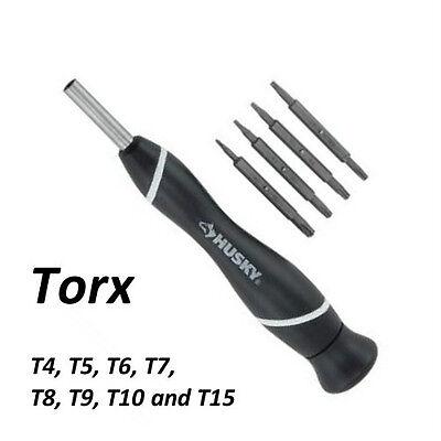 NEW - Husky 8-In-1 Torx Screwdriver Set 74502 - T10 T15 T8 T7 T6 T5 T4