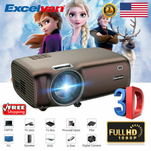"""200"""" Full HD 1080P Home Theater Projector Multimedia For Lap"""