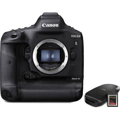 Canon EOS 1DX Mark III DSLR Camera with CFexpress Card and Reader Bundle