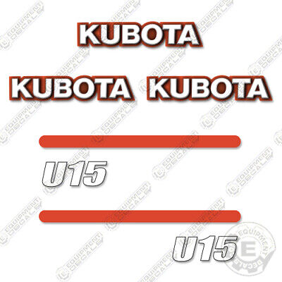 Kubota U15 Decal Kit Mini Excavator Replacement Decals U 15