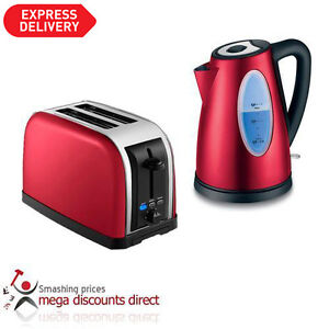 Red Kettle and Toaster - Stylish Retro Design - Special Promotion Offer