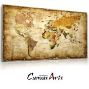 Weltkarte Leinwand