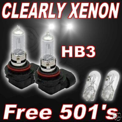 CLEAR XENON bulbs vauxhall zafira 9905 all dipped HB3