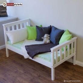 Toddler wooden bed frame - new