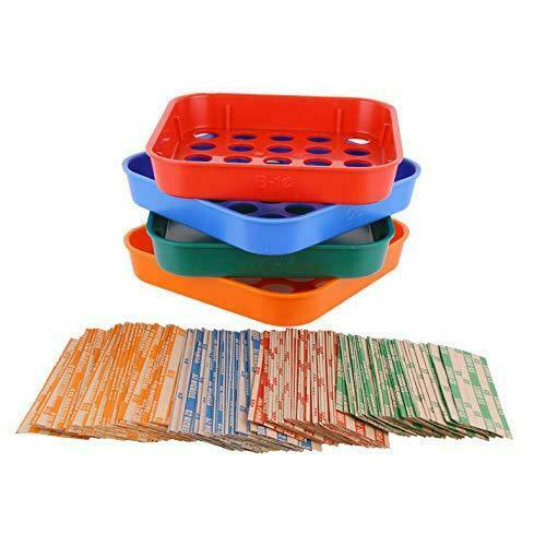 Coin Sorters Tray & Coin Counters – 4 Color-Coded Coin Sorting Tray Bundled with