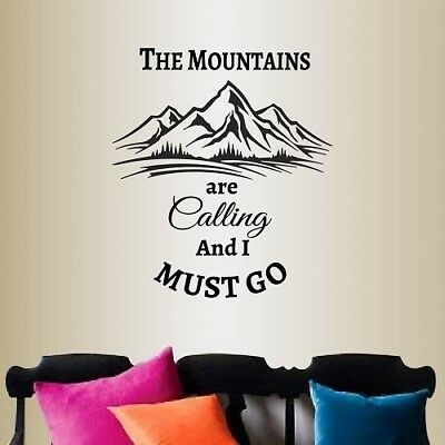 Vinyl Decal Mountains Calling Rock Climbing Extreme Travel Wall Sticker 2197 for sale  Lubbock
