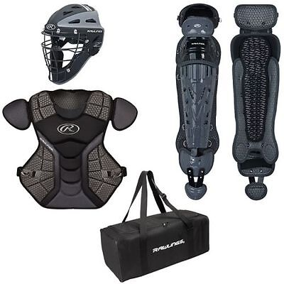 Rawlings Velo baseball catcher youth equipment set new full 9 years younger gear