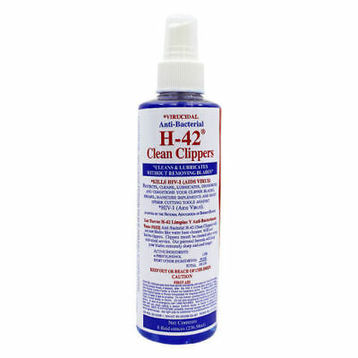 H-42 Clean Clippers Spray Virucidal Anti-Bacterial Cleaner 8oz Clean Clipper Blades
