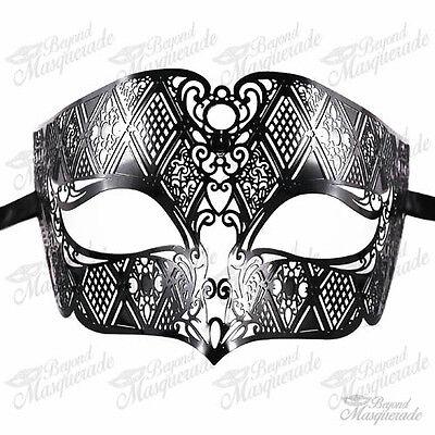 Herren Unisex Filigran Hell Metall Mardi Gras Halbschuhe - Herren Mardi Gras Maske
