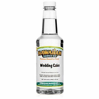 Hawaiian Shaved Ice Syrup Wedding Cake Pint