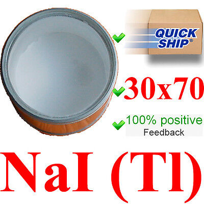 Scintillation Crystal Naitl 30x70 Mm Gamma Scintillator Radiation Detector