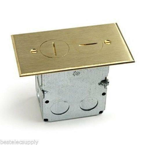 Electrical floor box ebay for Floor receptacle