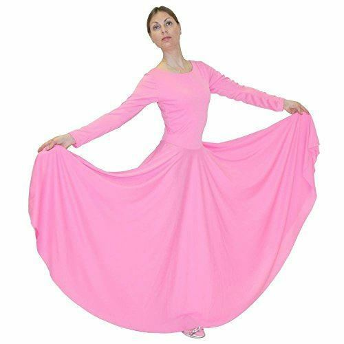 Danzcue Womens Praise Loose Fit Full Length Long Sleeve Dance Dress