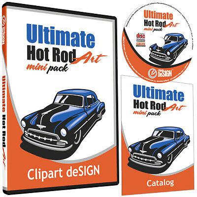 Hot Rod Clipart-vinyl Cutter Plotter Images-eps Vector Clip Art Cd