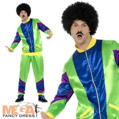 80's Height of Fashion Shell Suit Mens Tracksuit 1980s Fancy Dress Adult - 80's Men's Fashion Kostüm