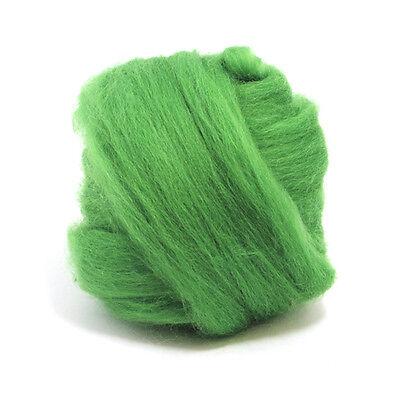 Heidifeathers® Organic White Merino Wool Top Spinning Roving 500g Felting