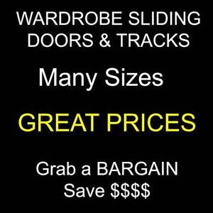 Wardrobe Sliding DOORS + Tracks - Save $$$ - Many Sizes – Bargain Penrith Penrith Area Preview
