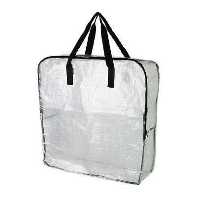 IKEA DIMPA Zippered Storage Bag Clear (Clear Storage Bags)