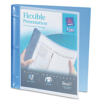 Avery Flexible Round Ring Presentation 3-ring Binder 12 Blue Ea - Ave17670